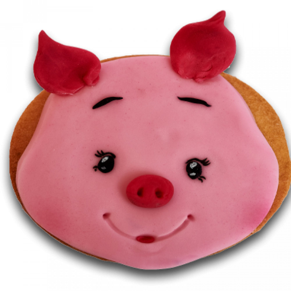 Decorated biscuit - piggy