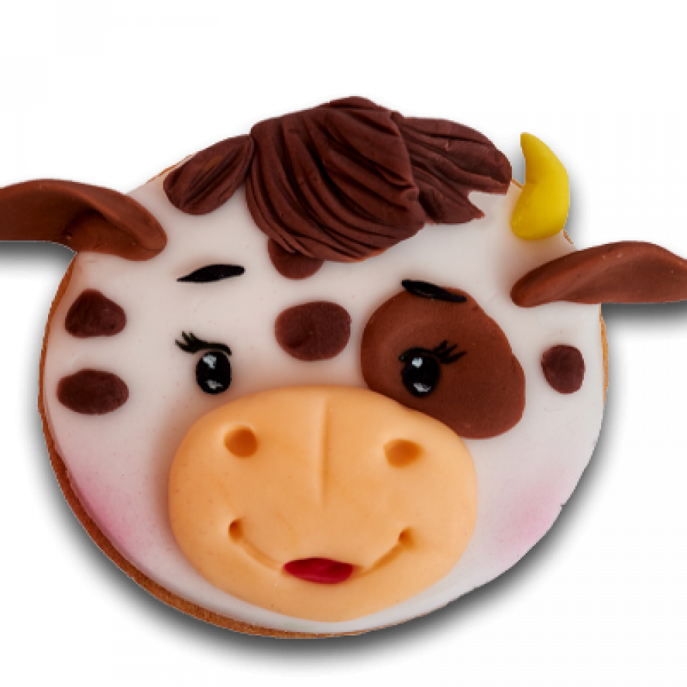 Decorated biscuit - cow