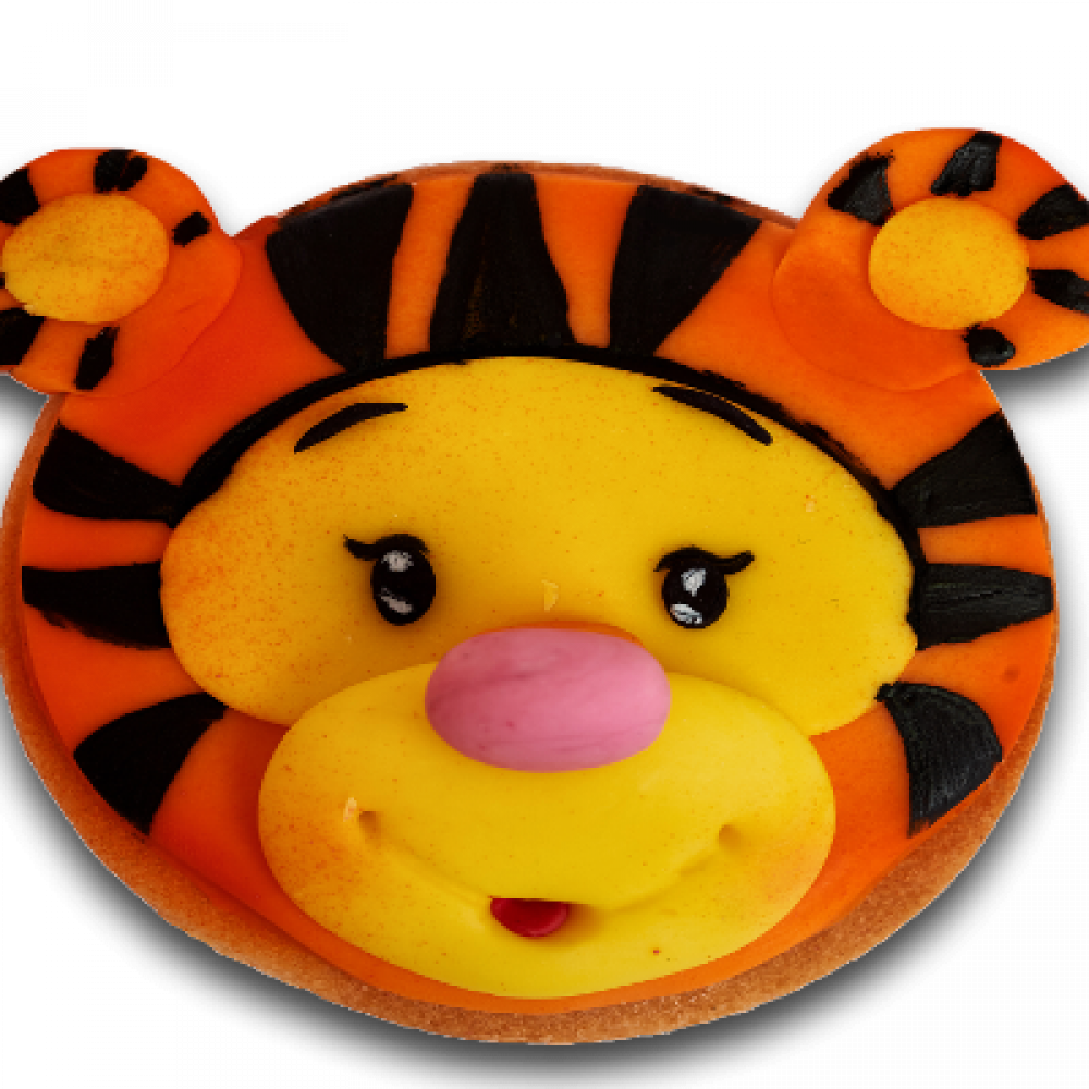 Decorated biscuit - tiger